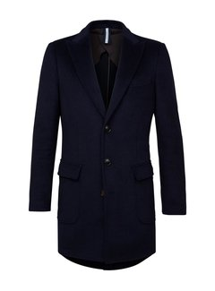 Profuomo Overcoat Knitted Navy (PPRU3C0023)N