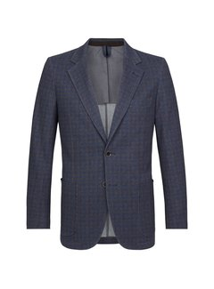 Profuomo Colbert Checked Blauw (PPRP3A0006)N