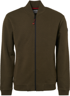 No Excess Vest Full Zip Jacquard Army Green (92100813 - 059)