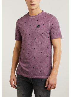 CHASIN' T-shirt Ronde Hals BARUCH Burgundy Rood (5211.213.130 - E41)