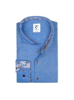 R2 Amsterdam Overhemd Flanel Kobalt Blauw (110.WSP.113 - 012)