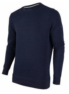 Cavallaro Napoli Sweater Mauro Structuur Navy Blauw (120206000 - 699000)