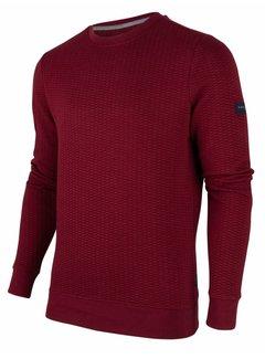 Cavallaro Napoli Sweater Nero Structuur Rood (120206001 - 499000)