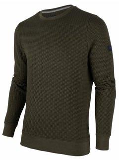 Cavallaro Napoli Sweater Nero Structuur Army Groen (120206001 - 599000)