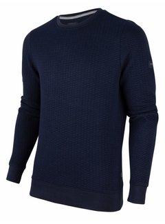 Cavallaro Napoli Sweater Nero Structuur Navy Blauw (120206001 - 699000)