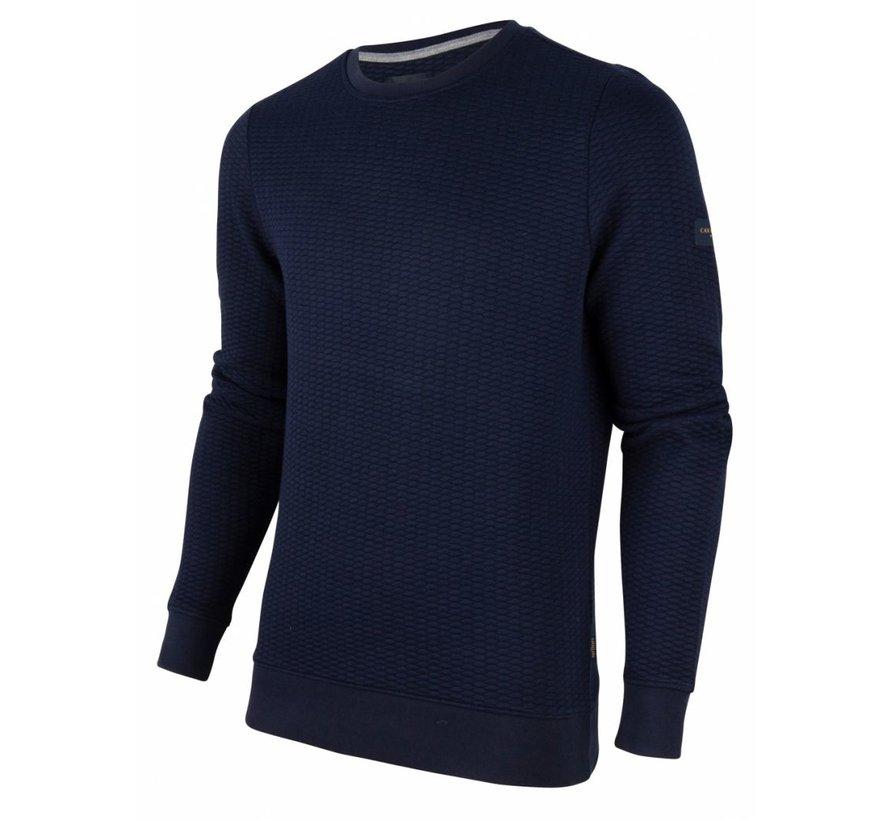 Sweater Nero Structuur Navy Blauw (120206001 - 699000)