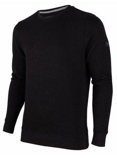 Cavallaro Napoli Sweater Nero Structuur Zwart (120206001 - 999000)