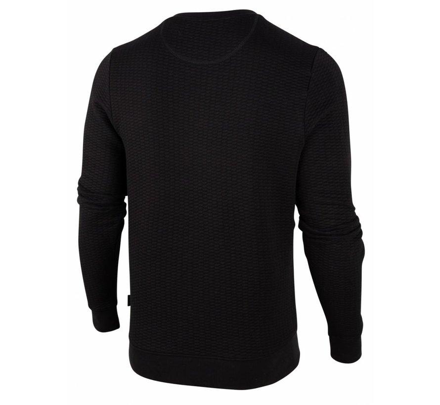 Sweater Nero Structuur Zwart (120206001 - 999000)