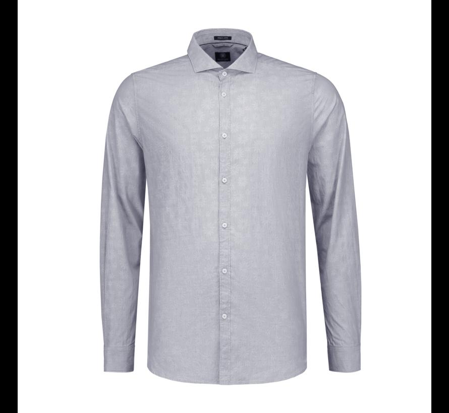 Overhemd Print Bloemen Navy Blauw (303220 - 669)