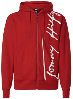 Tommy Hilfiger Hooded Vest Signature Rood (MW0MW14446 - XLG)