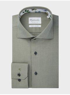 Michaelis Michaelis Overhemd Twill Groen (PMRH300005)N
