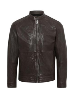 Matinique Leren Jas MAadron Soft Leather Dark Brown (30205060 - 191101)