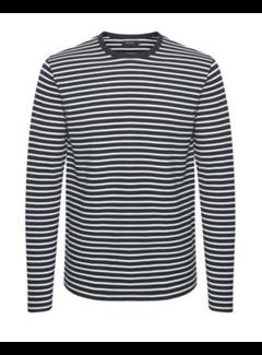 Matinique Longsleeve T-shirt Claude Gestreept Dark Navy (30204199 - 20210)