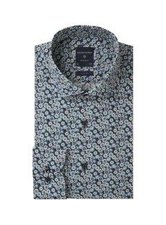 Profuomo Overhemd Slim Fit Flowerprint Navy (PPRH3A1010)N