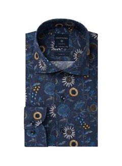 Profuomo Overhemd Slim Fit Flowerprint Navy (PPRH3A1040)N