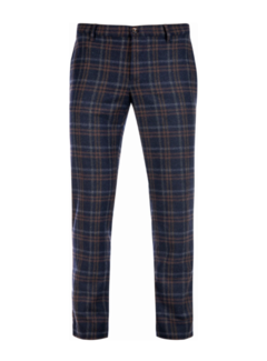 Alberto Chino Rob Slim Fit Smart Wool Check Multicolor (6286 1257 - 085)N
