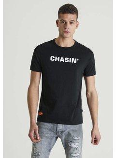 CHASIN' T-shirt Duell Logo Zwart ( 5211.213.137 - E90)