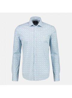 Lerros Overhemd Print Modern Fit Dusty Mint (20D1325T - 467)