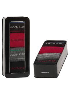 Calvin Klein Sokken 4-pack Giftbox Karsyn Pencil Stripe Zwart (100002160 - 001)