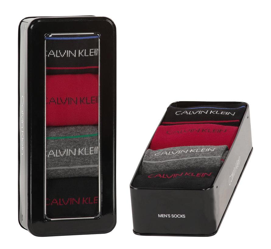 Sokken 4-pack Giftbox Karsyn Pencil Stripe Zwart (100002160 - 001)