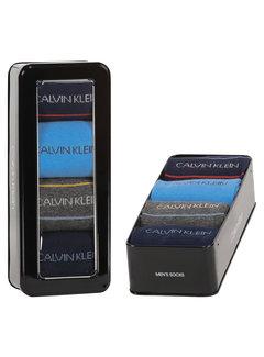Calvin Klein Sokken 4-pack Giftbox Karsyn Pencil Stripe Blauw (100002160 - 002)
