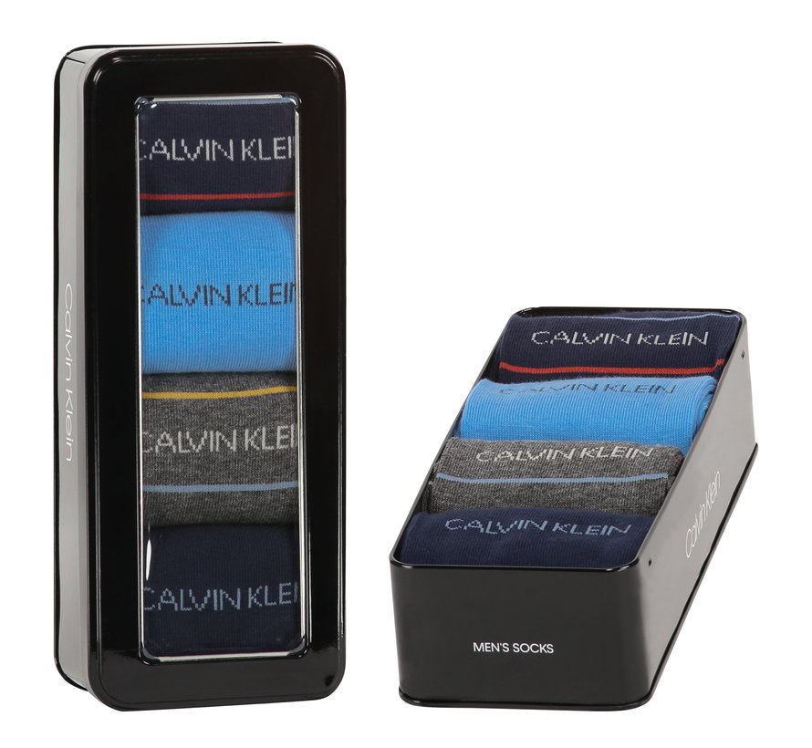 Sokken 4-pack Giftbox Karsyn Pencil Stripe Blauw (100002160 - 002)