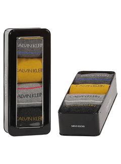Calvin Klein Sokken 4-pack Giftbox Karsyn Pencil Stripe Grijs (100002160 - 003)
