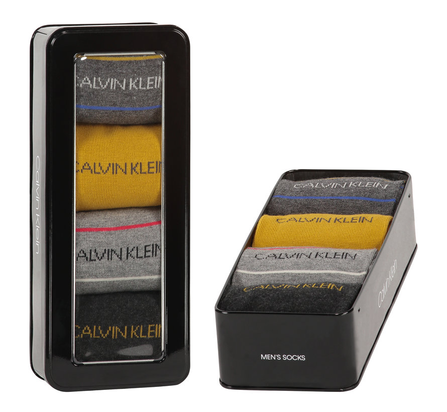 Sokken 4-pack Giftbox Karsyn Pencil Stripe Grijs (100002160 - 003)