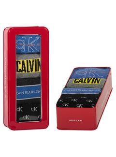 Calvin Klein Sokken 4-pack Giftbox Wade Jeans Logo Blauw (100002162 - 003)