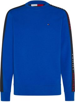 Tommy Hilfiger Sweater Tape Blauw (MW0MW15492 - C46)