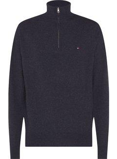 Tommy Hilfiger Half-Zip Sweater Soft Wool Zwart (MW0MW15770 - BD2)
