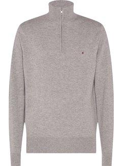 Tommy Hilfiger Half-Zip Sweater Soft Wool Grijs (MW0MW15770 - PGU)