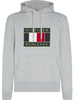 Tommy Hilfiger Hooded Sweater Icon Badge Grijs (MW0MW15245 - PG5)