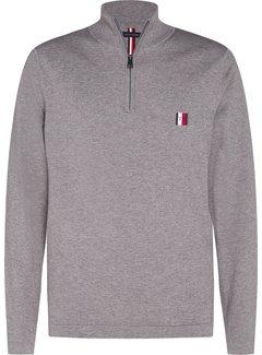 Tommy Hilfiger Half Zip Sweater Grijs (MW0MW15475 - PGU)