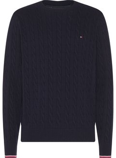 Tommy Hilfiger Trui Organic Cotton Cable Navy (MW0MW13382 - DV6)