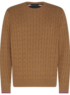 Tommy Hilfiger Trui Organic Cotton Cable Camel (MW0MW13382 - HIL)