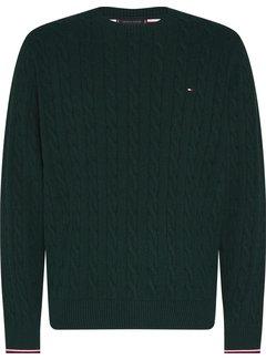 Tommy Hilfiger Trui Organic Cotton Cable Groen (MW0MW13382 - MRF)