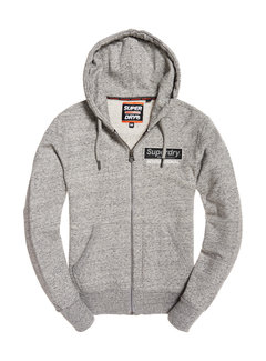 Superdry Vest Hooded Sweat International Monochrome Grijs (M20109TT - C3V)