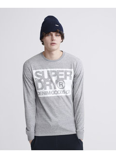Superdry Longsleeve T-shirt Denim Goods Co Print Grijs (M6010019A - 9SS)