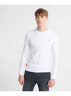 Superdry Longsleeve T-shirt Organic Cotton Collective Wit (M6010041B - 01C)