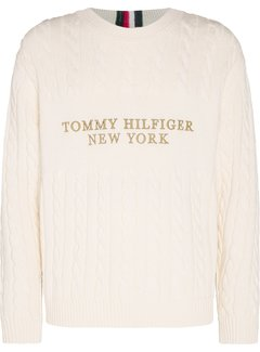 Tommy Hilfiger Trui Cable Logo Ivory (MW0MW15460 - YBI)
