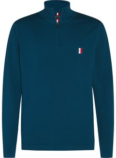 Tommy Hilfiger Half Zip Sweater Turquoise (MW0MW15475 - LRO)