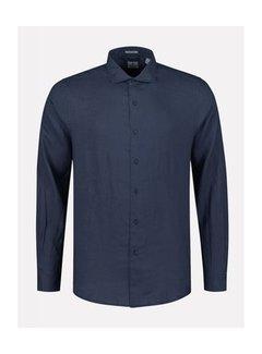Dstrezzed Overhemd Regular Fit Navy Blauw (303300 - 669)