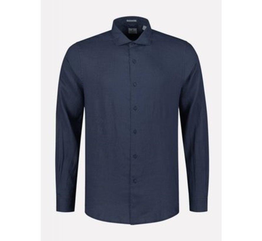 Overhemd Regular Fit Navy Blauw (303300 - 669)