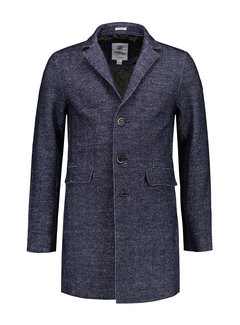 Dstrezzed Coat Herringbone Wool Navy (101214 - 650)