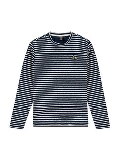 Kultivate Pullover LS BMX Stripes Navy (2001030601 - 333)