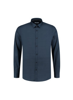 Dstrezzed Overhemd Regular Collar Circle Flower Lt Stretch Poplin Dark Navy (303272 - 649)