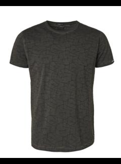 No Excess T-shirt Ronde Hals Print Donker Grijs (97350702 - 023)