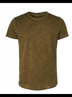 No Excess T-shirt Ronde Hals Print Moss Groen (97350702 - 152)
