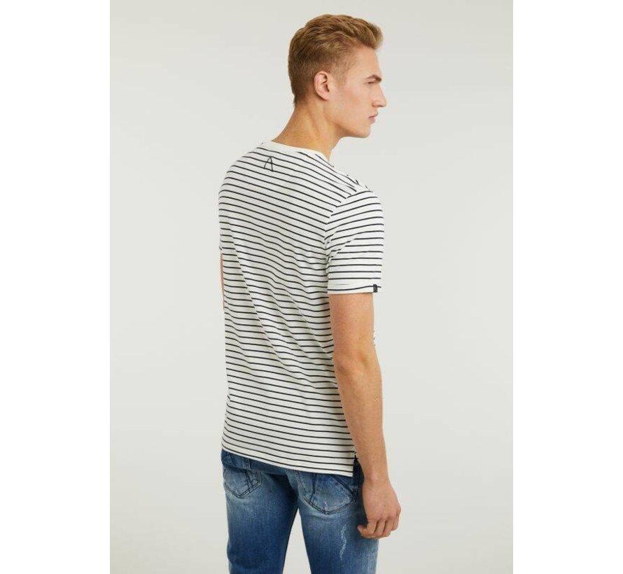T-shirt Ronde Hals SHORE Navy Blauw (5211.213.132 - E60)